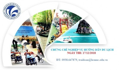 Thông báo tổ chức thi cấp chứng chỉ nghiệp vụ hướng dẫn du lịch